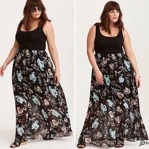 torrid Floral Chiffon Knit Maxi Dress